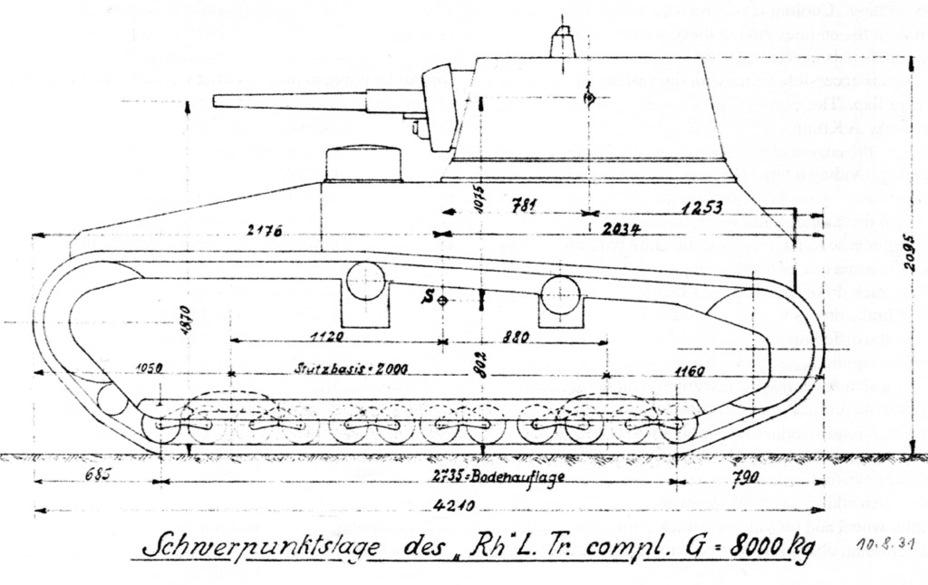 Leichttraktor - planos